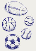 Set sport balls — Stock Vector