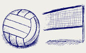 Sketch volleyball — Stock Vector