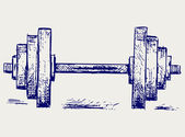 Sketch dumbbell weight — Stock Vector