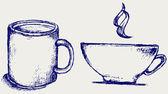 Cup drink — Stock Vector