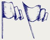 Waving flag — Stock Vector