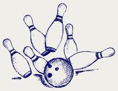 草绘保龄球 — 图库矢量图片