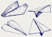Paper planes — Stock Vector