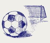 Soccer ball — Stock Vector
