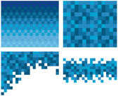 Kare piksel mozaik arka plan — Stok Vektör
