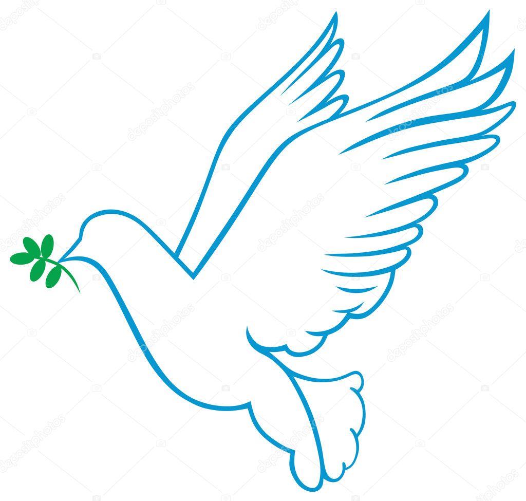 Christian Dove Symbol Vector dove symbol - stock