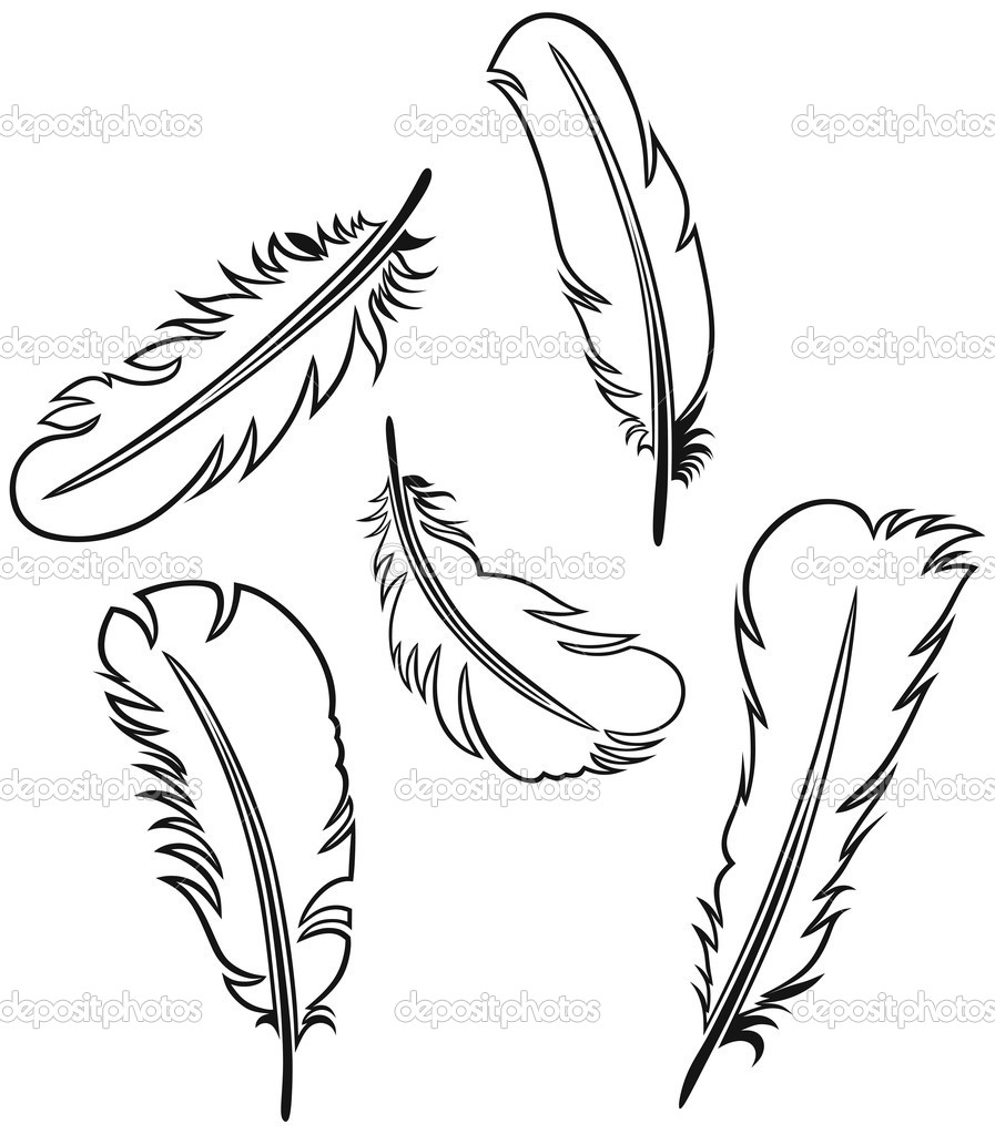 The gallery for indian feather template printable for Indian feathers coloring page