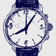Wristwatch sketch — Stock Photo