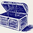 Chest sketch — Stock Photo