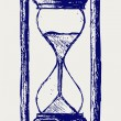 Stock Photo: Hourglass sketch