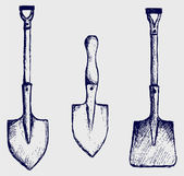 Shovel sketch — Stock Photo