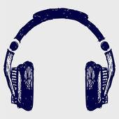 Headphones sketch — Stock Photo