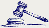 Judge gavel sketch — Stock Photo