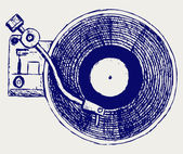 Record player vinyl record — Stock Photo