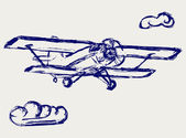 Airplane vector sketch — Stock Photo