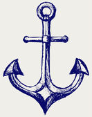 Anchor sketch — Stock Photo