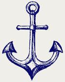Anchor sketch — Stock Photo