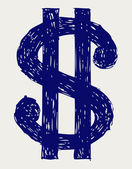 Dollar sign — Stock Photo