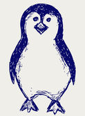 Penguin sketch — 图库照片