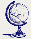 Globe sketch — Stock Photo