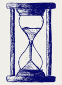 Hourglass sketch — Stock Photo