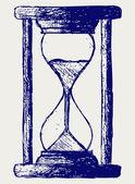Hourglass sketch — Stock Photo