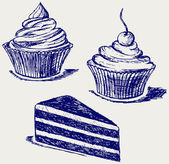 Cute cupcake — Stock Photo