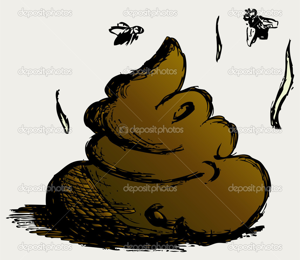 Feces cartoon  Stock Photo #12068086
