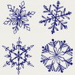 Snowflake winter — Stock Photo