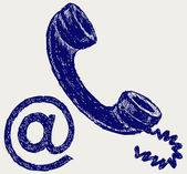 Telephone mail — Stock Photo