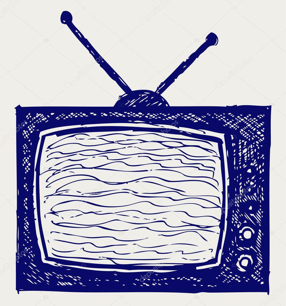 复古电视机— 照片作者