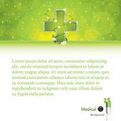 Alternative medication concept — Stock Vector