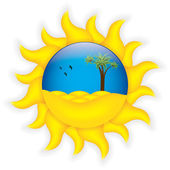 Tropical summer symbol — Stock Vector