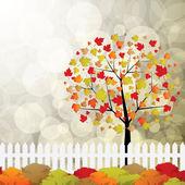 Autumn garden — Stock Vector