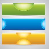 Three universal banner — Stock Vector