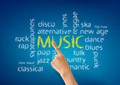 Music Word Illustration — Stock Photo