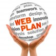 Web-plan — Stockfoto