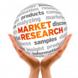 Market Research - Foto de Stock