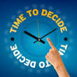 Time to decide — Stockfoto