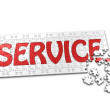 Puzzle of Service — Stock Photo