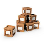 Pile of Crates — Stock Photo