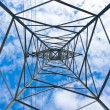 Stock Photo: Electricity pylons