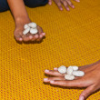 Stock Photo: Playing Dibs ,classical Thai children game