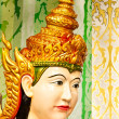 Face of Thai dancing girl sculpture - Stock Photo