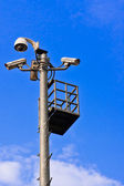 Surveillance Security Camera or CCTV — Stock Photo