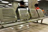 Empty seats in airport waiting room — Stock Photo