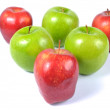 Red and green apples — Stock Photo #10746126