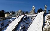 Ski jumping hill — Stock Photo