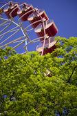Ruské kolo v zeleném parku — Stock fotografie