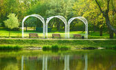 公園のベンチ — ストック写真